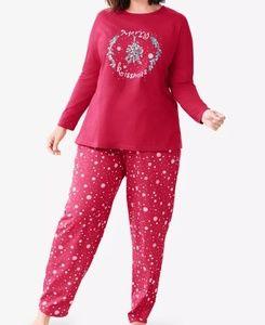 2X 26W 28W Holiday Pajamas Woman Within